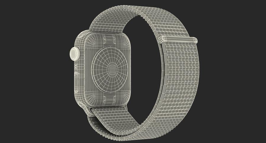 Seashell 스포츠 루프가 장착 된 화이트 Apple Watch royalty-free 3d model - Preview no. 50