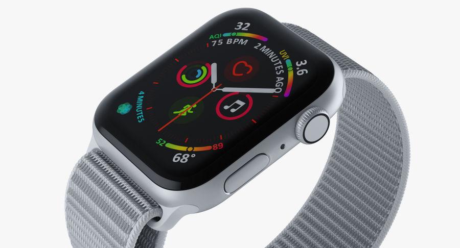 Seashell 스포츠 루프가 장착 된 화이트 Apple Watch royalty-free 3d model - Preview no. 17