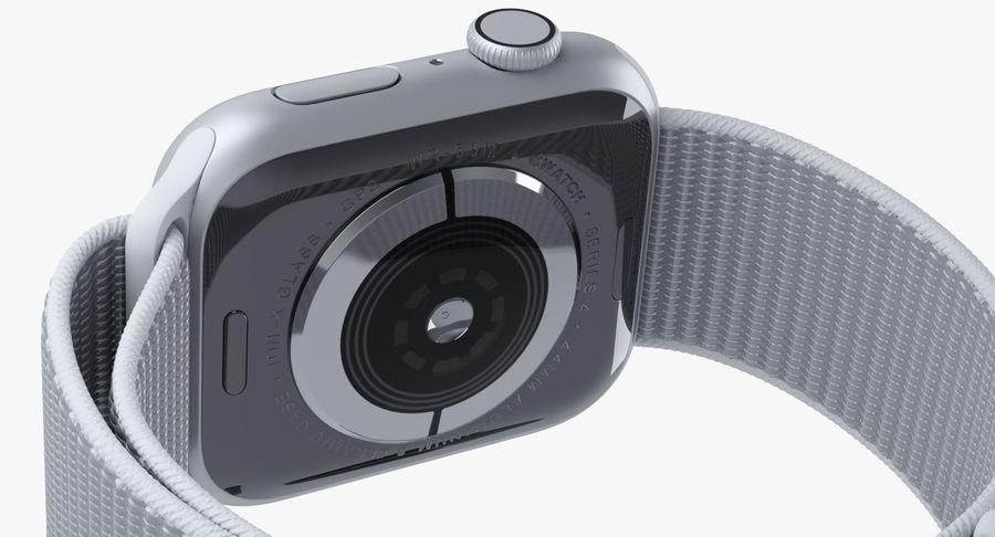 Seashell 스포츠 루프가 장착 된 화이트 Apple Watch royalty-free 3d model - Preview no. 13