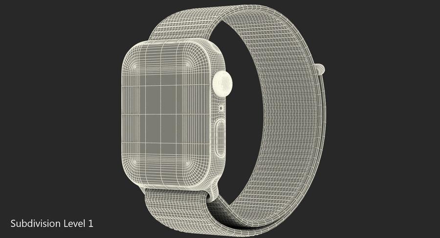 Seashell 스포츠 루프가 장착 된 화이트 Apple Watch royalty-free 3d model - Preview no. 30