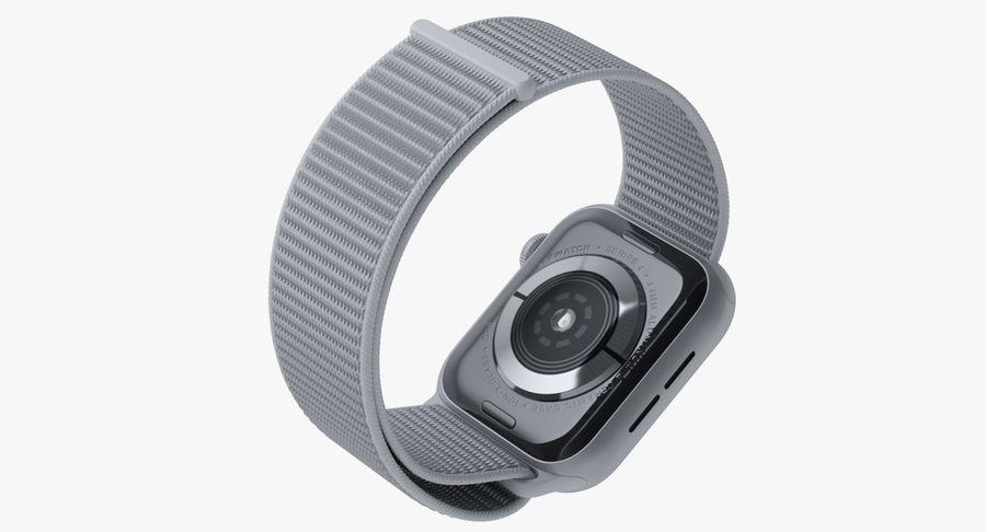 Seashell 스포츠 루프가 장착 된 화이트 Apple Watch royalty-free 3d model - Preview no. 11