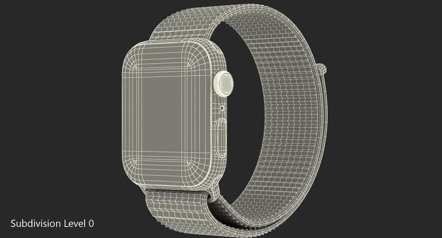 Seashell 스포츠 루프가 장착 된 화이트 Apple Watch royalty-free 3d model - Preview no. 29