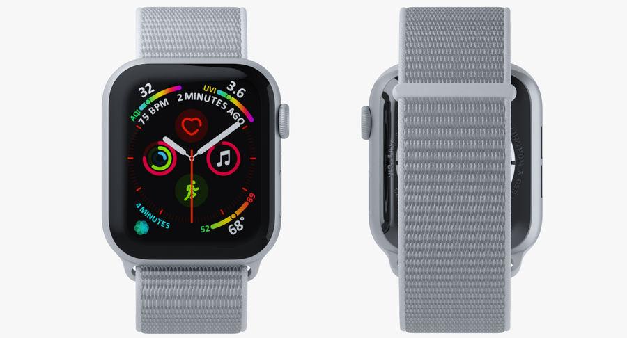 Seashell 스포츠 루프가 장착 된 화이트 Apple Watch royalty-free 3d model - Preview no. 23