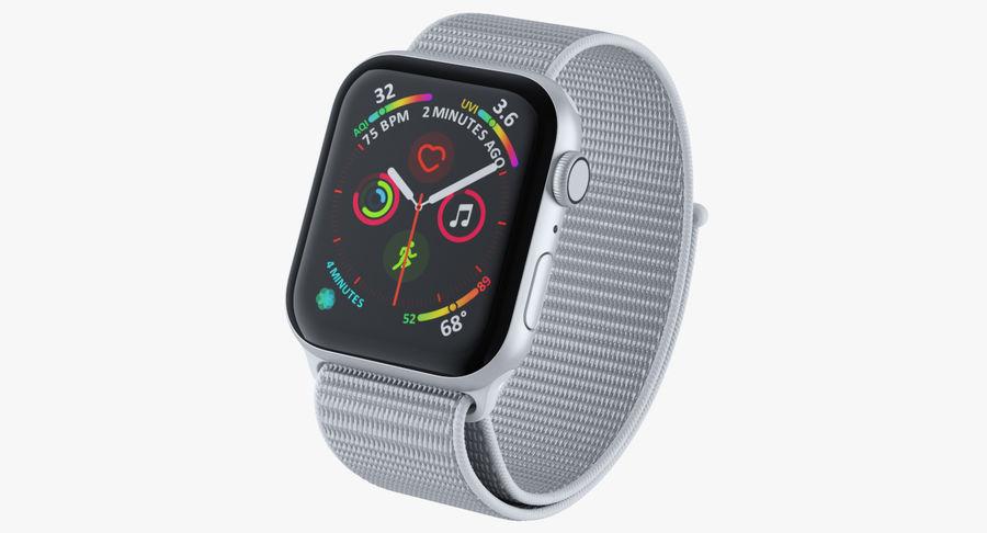 Seashell 스포츠 루프가 장착 된 화이트 Apple Watch royalty-free 3d model - Preview no. 3