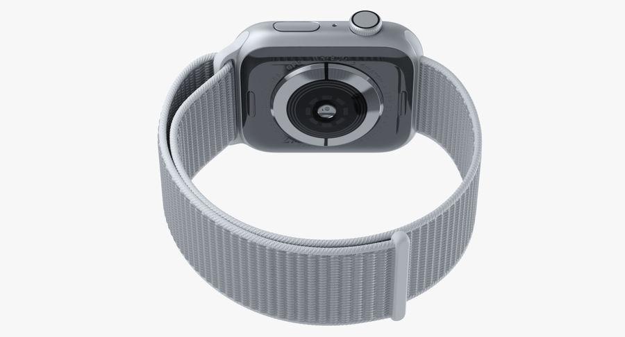 Seashell 스포츠 루프가 장착 된 화이트 Apple Watch royalty-free 3d model - Preview no. 19