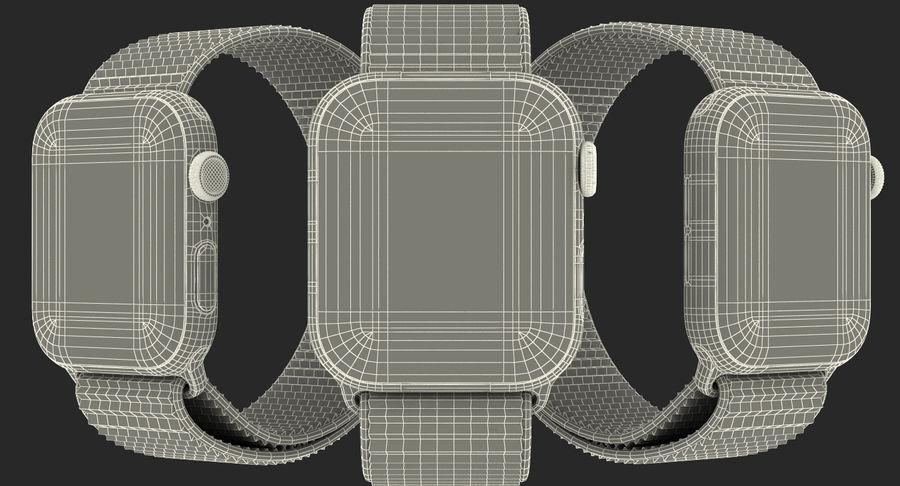 Seashell 스포츠 루프가 장착 된 화이트 Apple Watch royalty-free 3d model - Preview no. 40