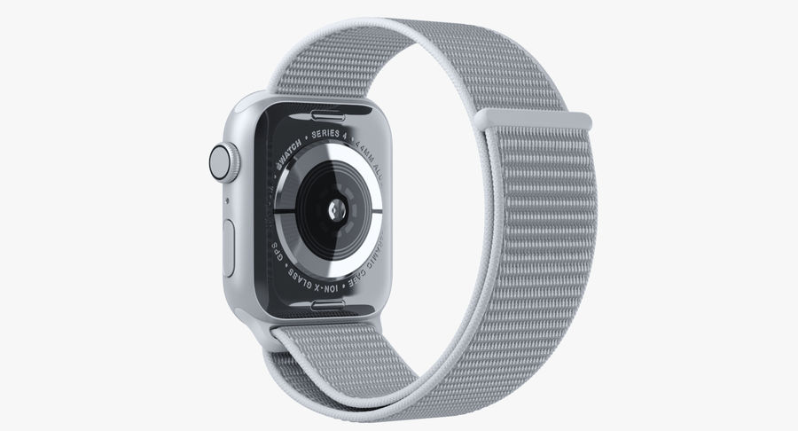 Seashell 스포츠 루프가 장착 된 화이트 Apple Watch royalty-free 3d model - Preview no. 21