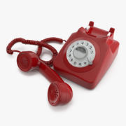 Old Rotary Phone 3d model