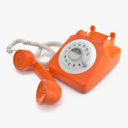Téléphone à cadran rotatif façonné 3d model