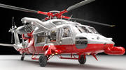 Helicopter Support Heli with Guns 3d model