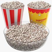 Popcorn Kubki I Miska 3d model
