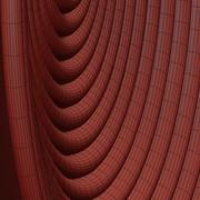 Flätade afrikanska väggkorgar 3d model