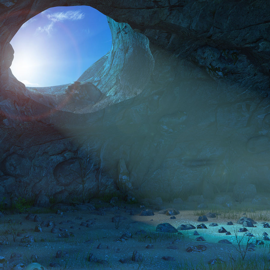 Jaskinia jaskiniowa royalty-free 3d model - Preview no. 10