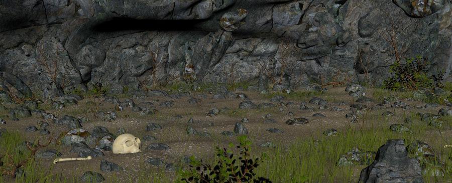 Jaskinia jaskiniowa royalty-free 3d model - Preview no. 14