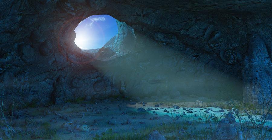 Jaskinia jaskiniowa royalty-free 3d model - Preview no. 1