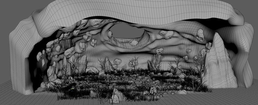 Jaskinia jaskiniowa royalty-free 3d model - Preview no. 13
