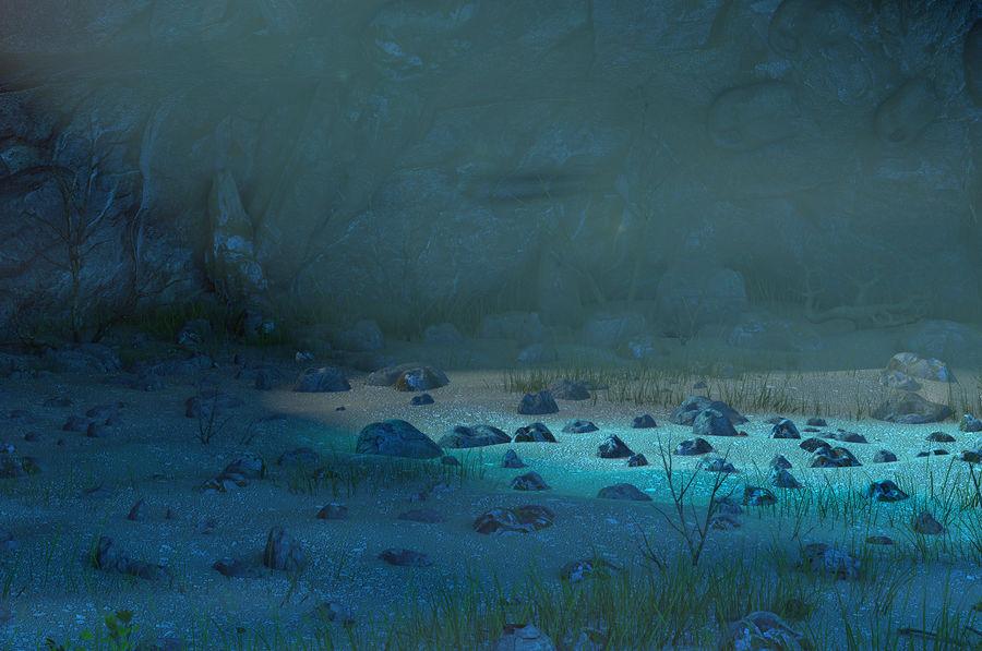Jaskinia jaskiniowa royalty-free 3d model - Preview no. 6
