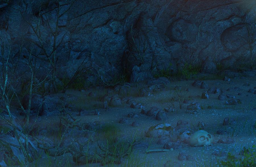 Jaskinia jaskiniowa royalty-free 3d model - Preview no. 7