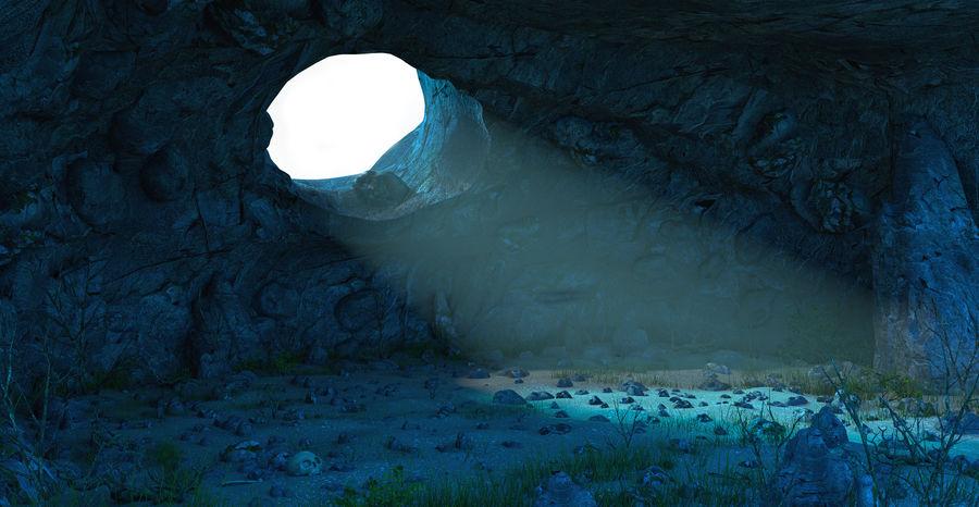 Jaskinia jaskiniowa royalty-free 3d model - Preview no. 2