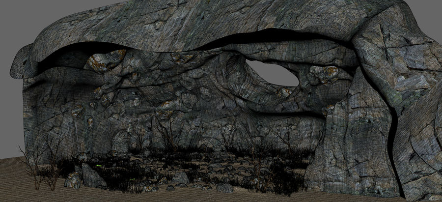 Cave Cavern royalty-free 3d model - Preview no. 21