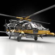 Helicóptero UH -60 Heli con pistolas modelo 3d