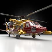 Helikopter UH-60 obsługuje helikopter 3d model