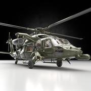 Helicóptero UH-60 Heli con pistolas (1) modelo 3d
