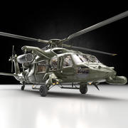 UH-60 Helicopter Support Heli with Guns(1) 3d model
