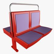 지하철 좌석 3d model
