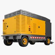 Tragbarer Kompressor Diesel Generator 01 3d model