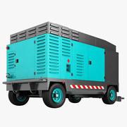 Generatore diesel a compressore portatile 3d model