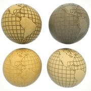 Pacote de mapas do mundo Earth Earth 3d model