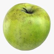 Granny Smith Apple 04 3d model