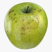 Granny Smith Apple 05 3d model