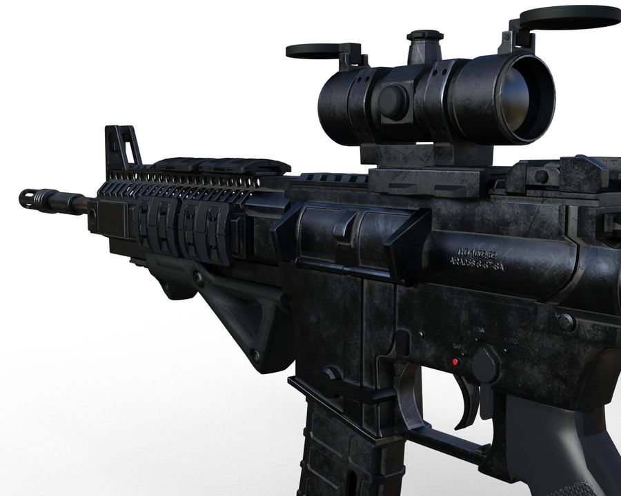 assault rifle royalty-free 3d model - Preview no. 12