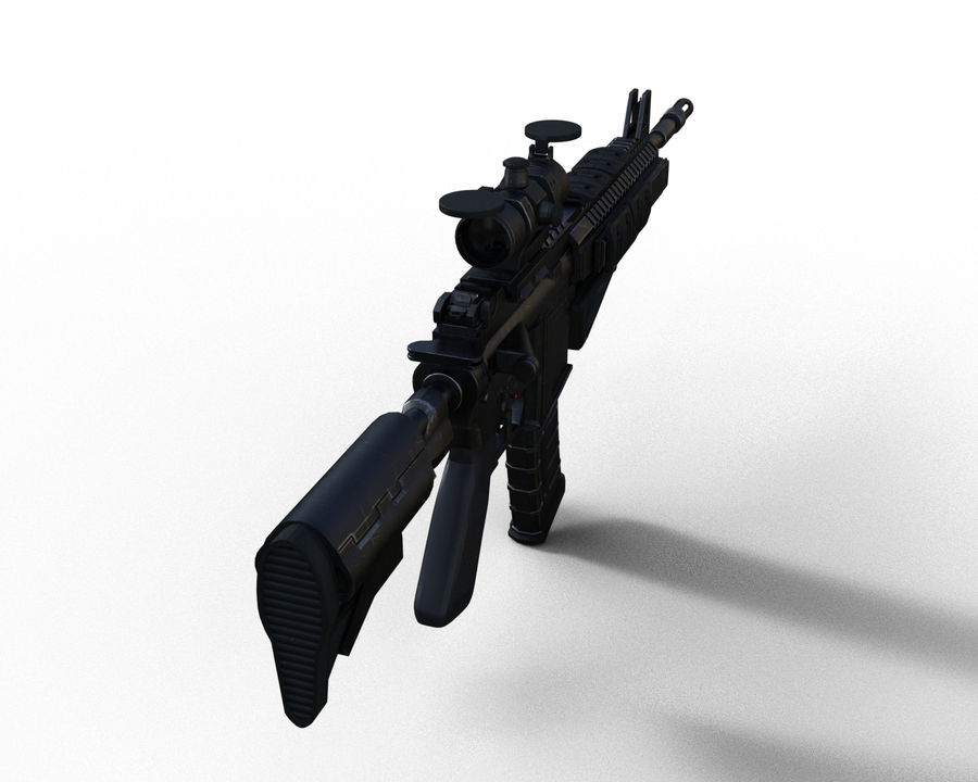 assault rifle royalty-free 3d model - Preview no. 9