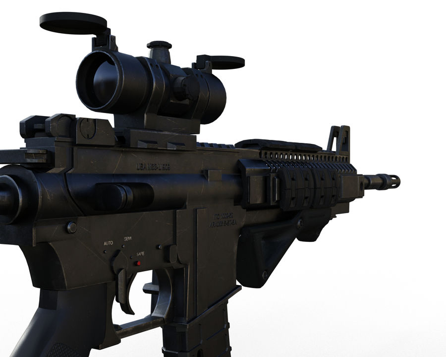 assault rifle royalty-free 3d model - Preview no. 13