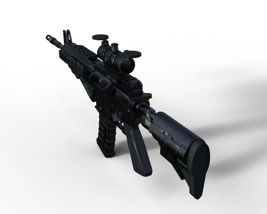 assault rifle royalty-free 3d model - Preview no. 8