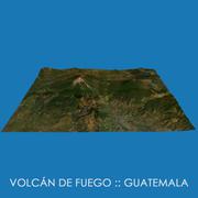 Volcan de Fuego - Fire Volcano 3d model