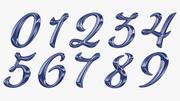 Calligraphic Digits Numbers 0 1 2 3 4 5 6 7 8 9 Set 3d model
