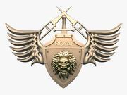 Logo tête de lion 3d model