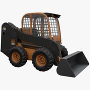 Rigged Skid Steer Loader LowPoly 3d model