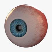 逼真的人眼动画 3d model