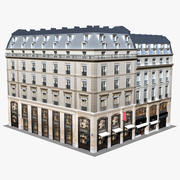 Typical Old City Buildings Paris 3d model
