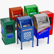Mailbox Newspaper Set 3d model