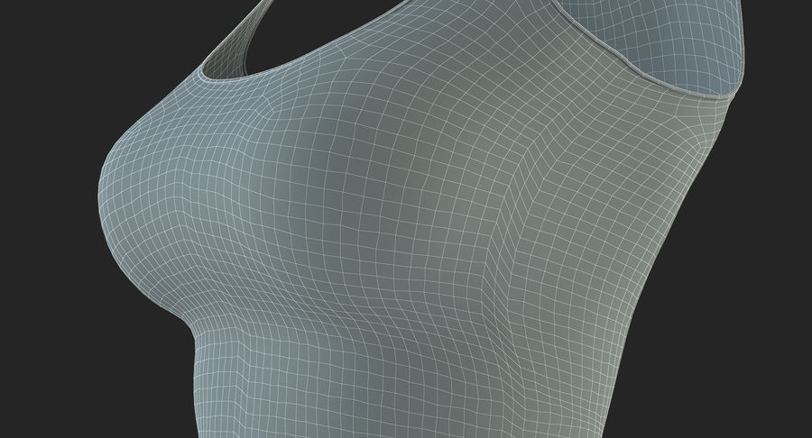 Chemise Sexy Femme royalty-free 3d model - Preview no. 43