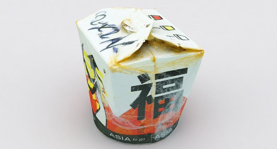 Asia Curry Box royalty-free 3d model - Preview no. 21