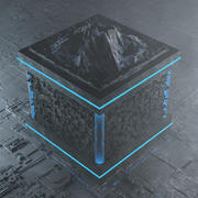 Strange Cube City With Mountain 3d model