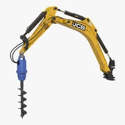 Modelo 3D Rigido JCB Earth Drill X2500 3d model