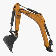 Excavator Boom and Arm Rigged 3D Model 3d model